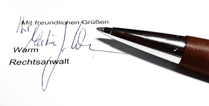 Rechtsanwalt Warm Paderborn
