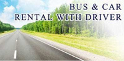 volantino di Bus & Car Rental With Driver