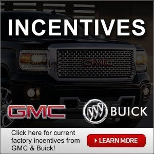 New Buick and GMC factory incentives from St J Auto in St. Johnsbury, VT.