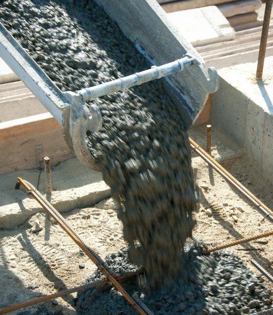 Walk way surface of concrete blocks