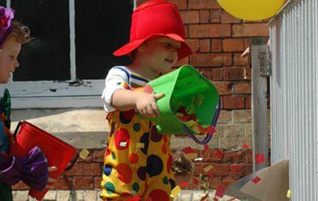 Small child playing