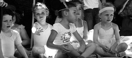 Girls ready for a dance class