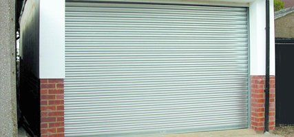 white rolling shutters