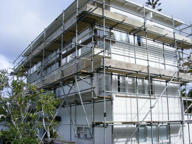 Building site prepared by scaffolding services in Auckland