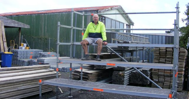Scaffolding professional sitting in Auckland