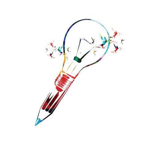 Creative drawing of bulb