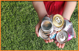Metal drinks cans