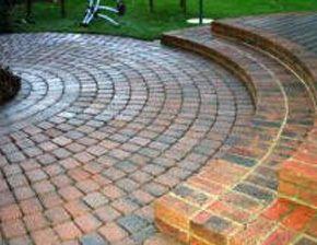 A stylish circular patio