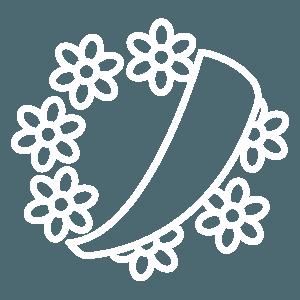 Icona corona di fiori Chiericoni Agenzia funebre a Roma