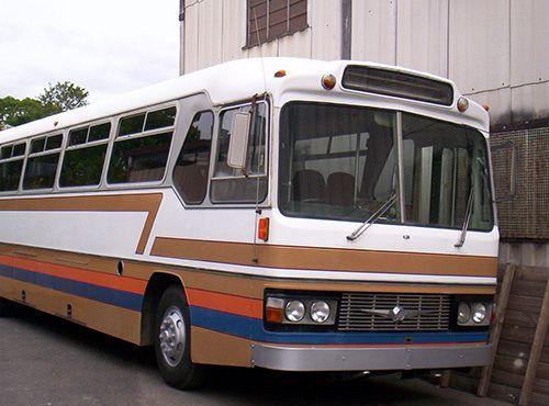 Bus after an extensive repair