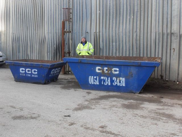 20 - 40 - 50 yard roll on and roll off skips - Liverpool, Merseyside - C.C.C Skip Hire - 2 - 4 - 8 ton skips