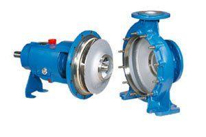 pompe centrifughe orizzontali, pompe centrifughe monostadio, pompe centrifughe per industria chimica