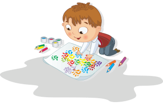 graphic of child painting