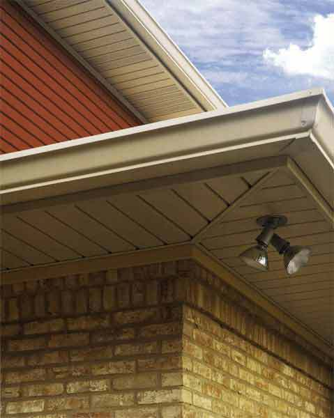 eaves and overhangs on a home that quality builders repaired