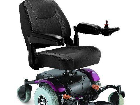 sedia a rotelle nera elettrica