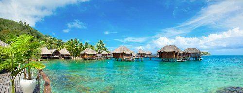 Bungalows in acqua blu calypso