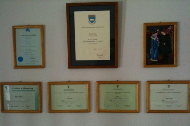 Albert Dang's qualifications