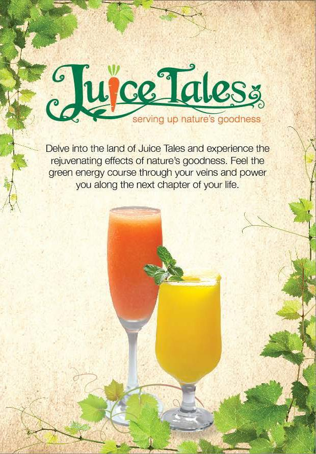 Juice Tales menu