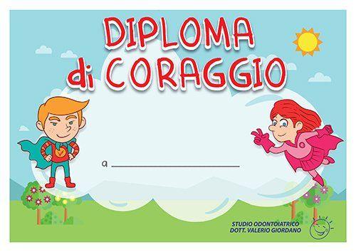 Finto diploma per bambini