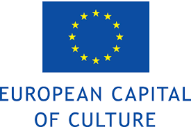 white letters on black background saying european capital of culture.