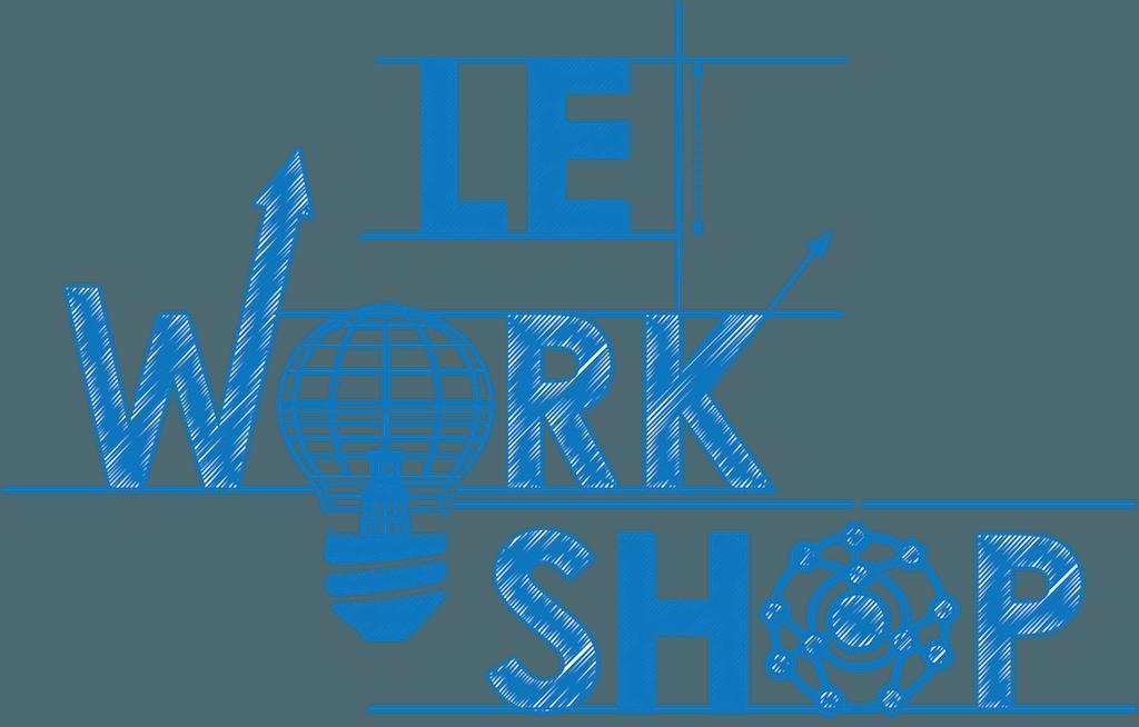 Blaue Schrift auf weissem Grund - le workshop