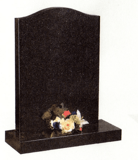 Polished Galaxy Black Granite memorial