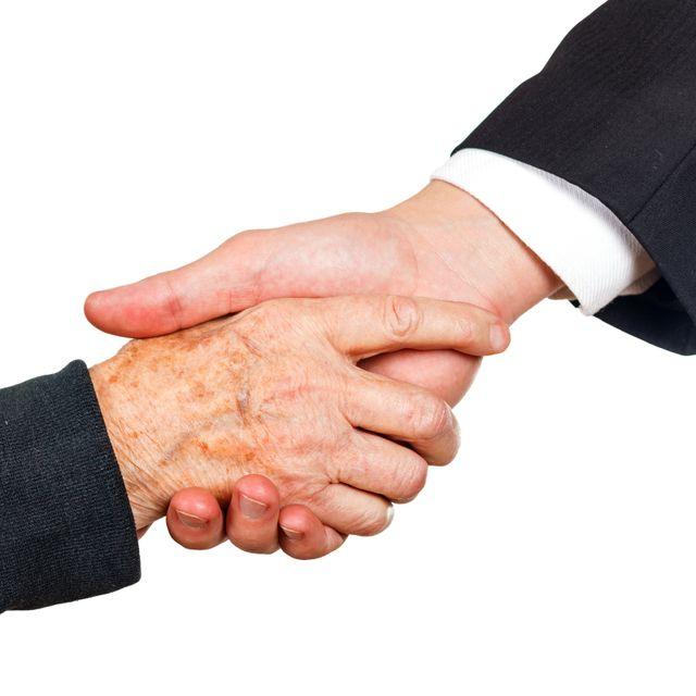 Attorneys shaking hands