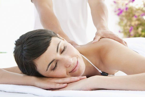 woman enjoying her body massage