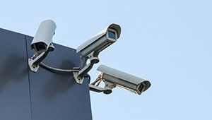 cctv camera installed on roof