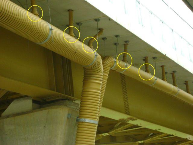 Tubi e tubazioni, modello di applicazioni viadotto