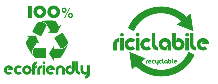 logo 100% ecofriendly - riciclabile e top gamma
