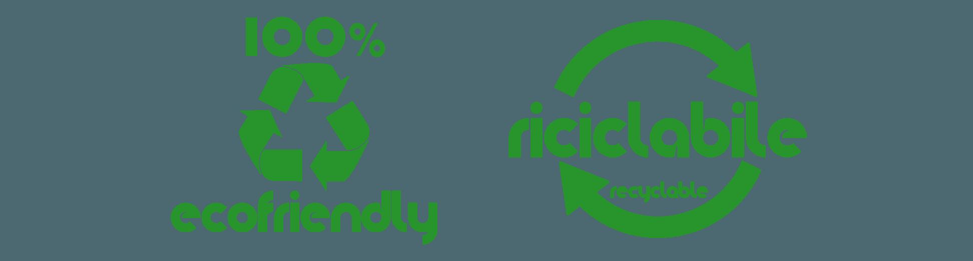 logo 100% ecofriendly - riciclabile