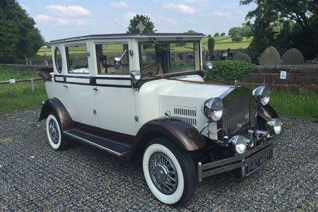 Vintage wedding car hire in Wirral