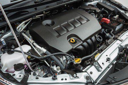 Il motore di un'automobile