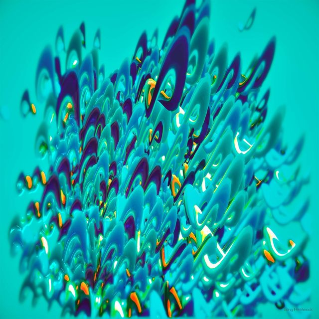 Abstract  ChromaLuxe blue artwork