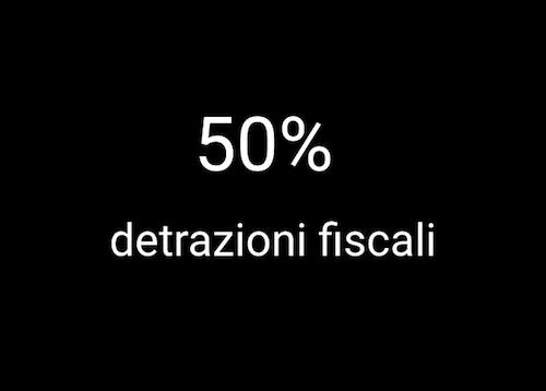 scritta detrazioni fiscali