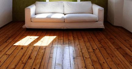 wooden floor polished