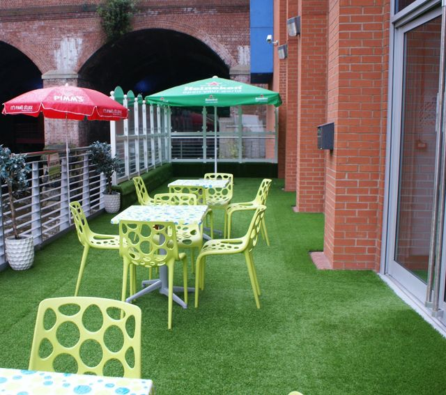 The decking area at our Sky Sports Bar in Yorkshire
