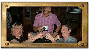Bar and lounge - Enniskillen - The Derg Arms - Drinking coffee and smiling