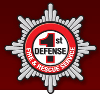 1st Defense Fire and Rescue Service Logo