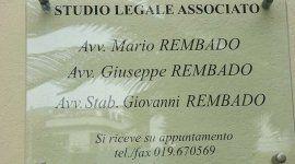 cartello di STUDIO LEGALE ASSOCIATO REMBADO