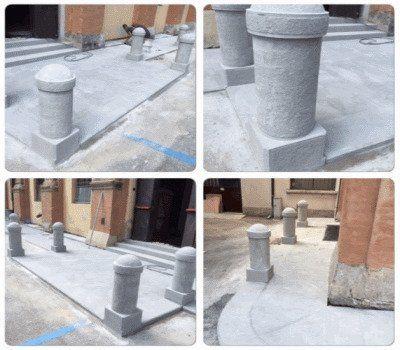 piccole colonne di marmo