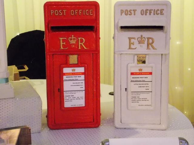 White royal post box