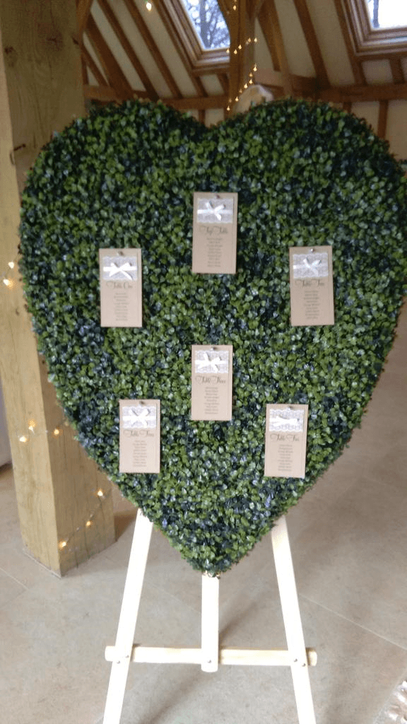 Topiary Heart Table Plan