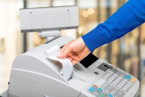 Prendendo il ticket del registratore