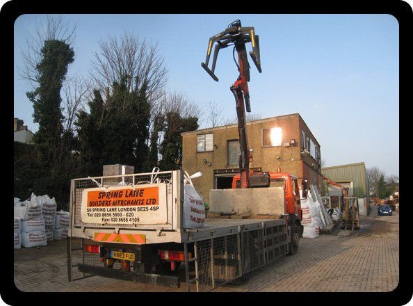 Builders merchants - Croydon, London - Spring Lane Builders Merchants - Compan lorry