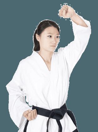 Woman - martial arts block