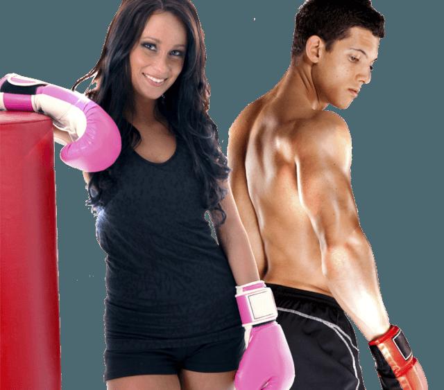 Fitness Kickboxing Man and Woman