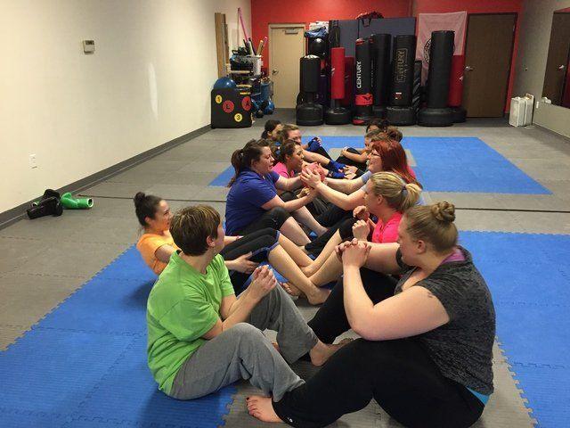 Fitness Kickboxing Class - sit ups