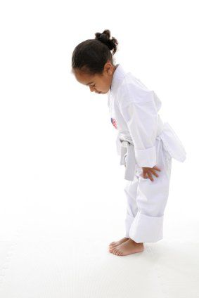 Girl Bowing - Respect Martial Arts